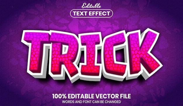 Trick-tekst, bewerkbaar teksteffect in lettertypestijl