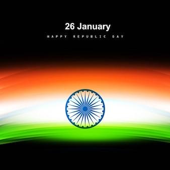 Tricolor glanzende indiase vlag kaart