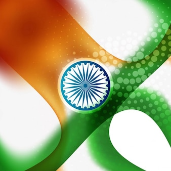 Tricolor kaart in indiase vlag thema