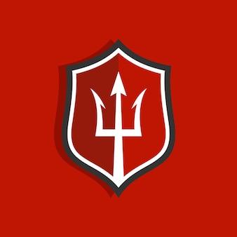 Trident logo ontwerpsjabloon