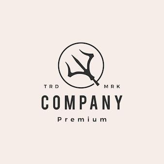 Trident rond vintage logo