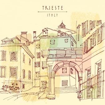 Trieste achtergrond ontwerp