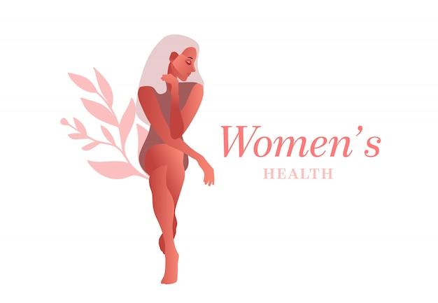 Trieste vrouw. urine-incontinentie, blaasontsteking, onvrijwillige plassen vrouw vectorillustratie