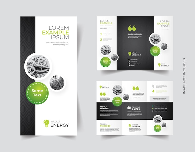 Trifold-brochure met cricle