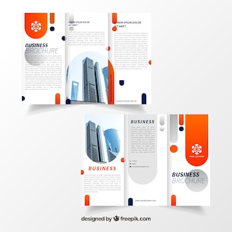 Trifold business flyer sjabloon