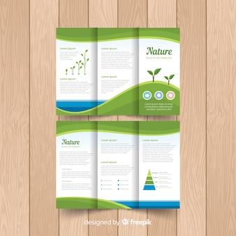 Trifold-flyer van de natuur