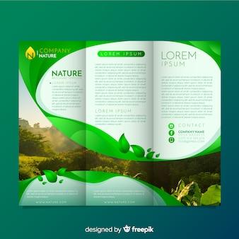 Trifold natuur flyer met afbeelding