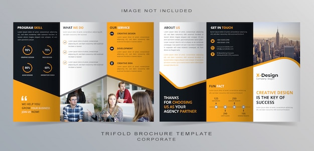 Trifold zakelijke brochure sjabloon