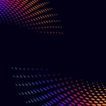 Trillende halftone op zwarte vector als achtergrond