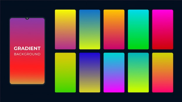 Trillende kleurrijke gradiëntachtergrond