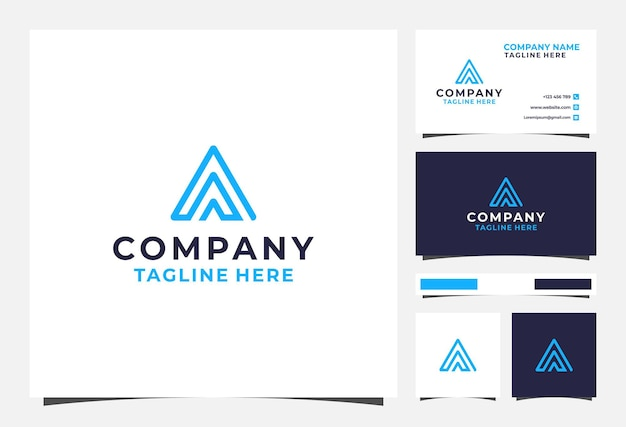 Triple a-logo en visitekaartje
