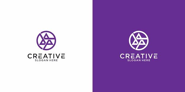 Triple d delta-logo grafisch ontwerp voor ander gebruik is perfect