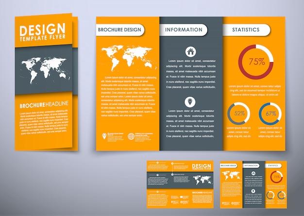 Triple opvouwbare brochuremalplaatje