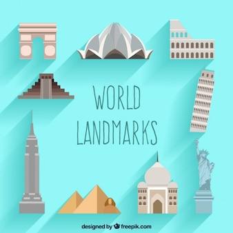 Trips monumenten in plat design