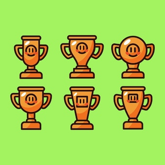 Trofee cartoon vector illustratie set