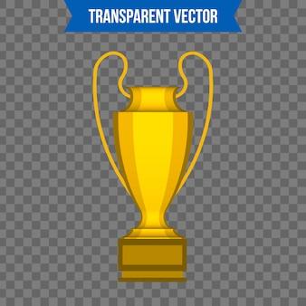 Trofee cup isometrische 3d-stijlsjabloon.
