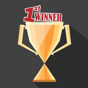 Trofee eerste winnaar