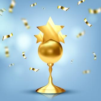 Trofee gouden beker