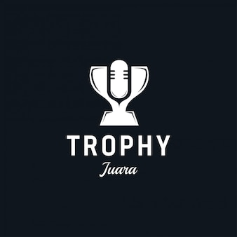 Trofee logo ontwerp. pak voor kampioen, strijd, kampioenschap, reclame.