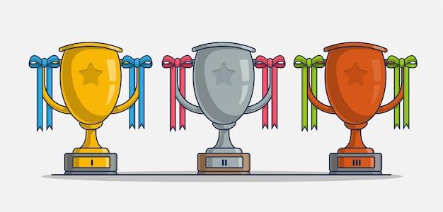 Trofee pictogram illustratie