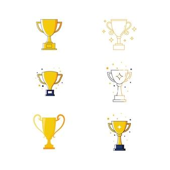 Trofee vector pictogram ontwerp illustratie sjabloon