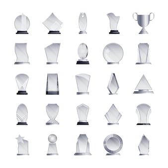 Trofeeën pictogrammen collectie