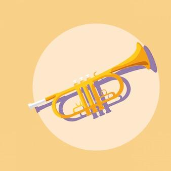 Trompet muziekinstrument