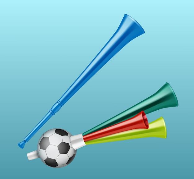 Trompetten voetbalfan verschillende soorten