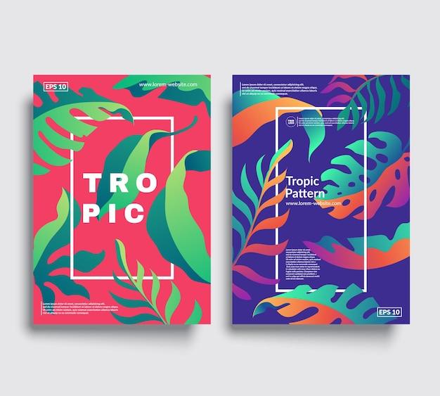 Tropic covers set met cool bloemmotieven design.