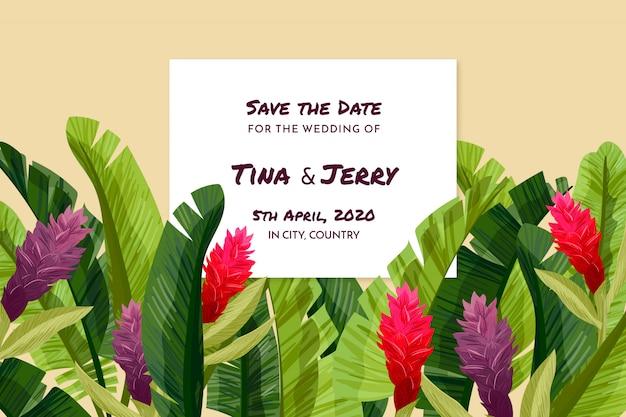 Tropical bewaar de datumkaart