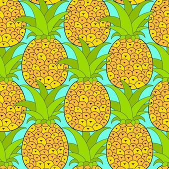 Tropisch ananassen naadloos patroon