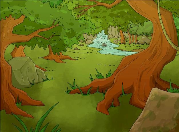 Tropisch boslandschap