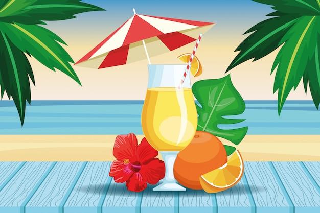 Tropisch drankje met paraplu