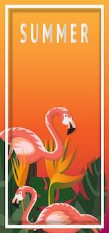 Tropisch en zomer achtergrond sjabloonontwerp. vector illustratie.