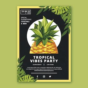 Tropisch feest poster thema