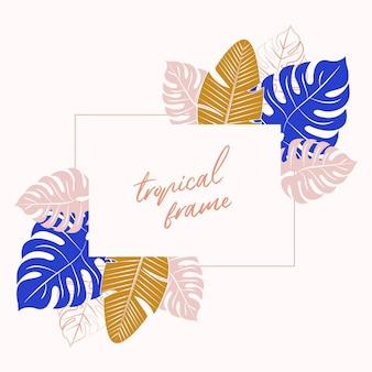 Tropisch frame. tropische achtergrond