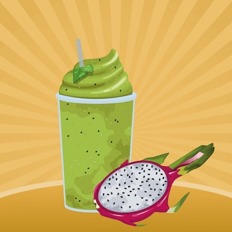 Tropisch fruit en smoothiedrank