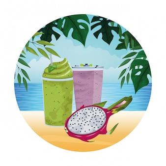 Tropisch fruit en smoothiedrank