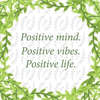 Tropisch groen blad quotes backround