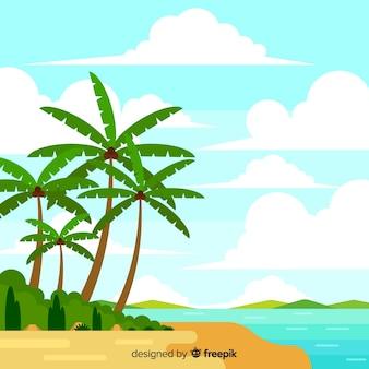 Tropisch landschap als achtergrond
