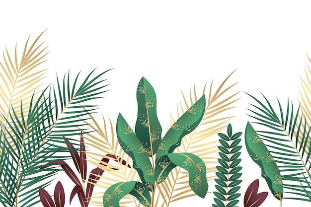 Tropisch muurschildering behang