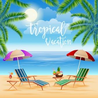 Tropisch paradijs. exotisch eiland