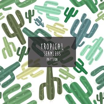 Tropisch patroon, naadloos patroon