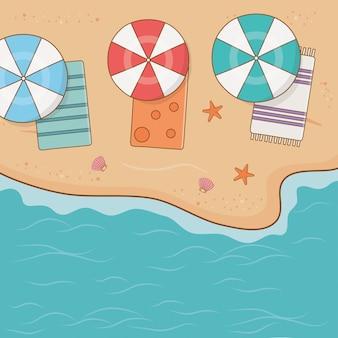 Tropisch strand airview scène