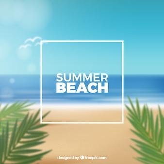 Tropisch strand met een realistisch ontwerp