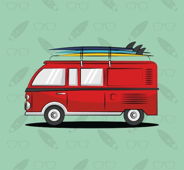 Tropisch surf levensstijl thema