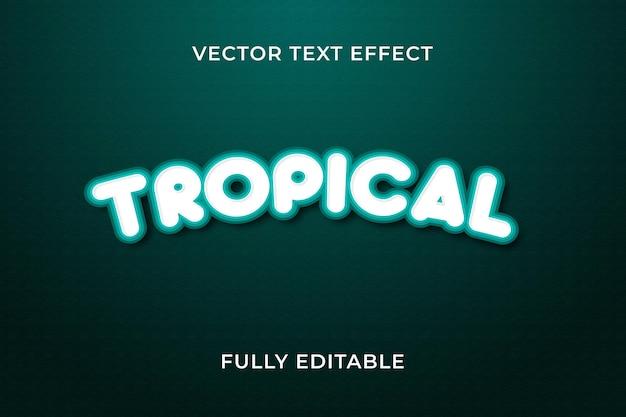 Tropisch teksteffect