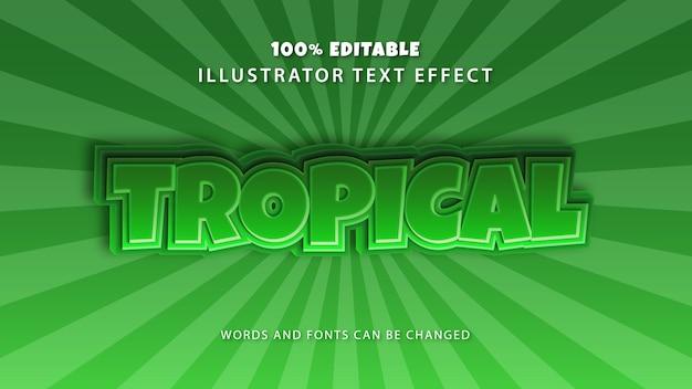 Tropisch tekststijleffect, bewerkbare tekst
