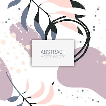 Tropische achtergrond - abstract naadloos patroon