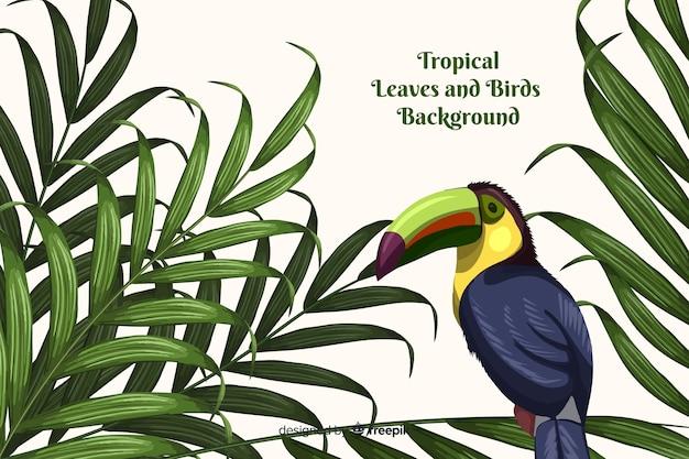 Tropische achtergrond met dieren